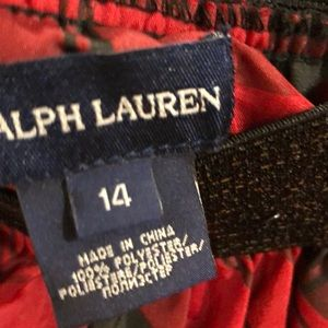 Ralph Lauren Bottoms - Ralph Lauren plaid tartan taffeta skirt layers 14